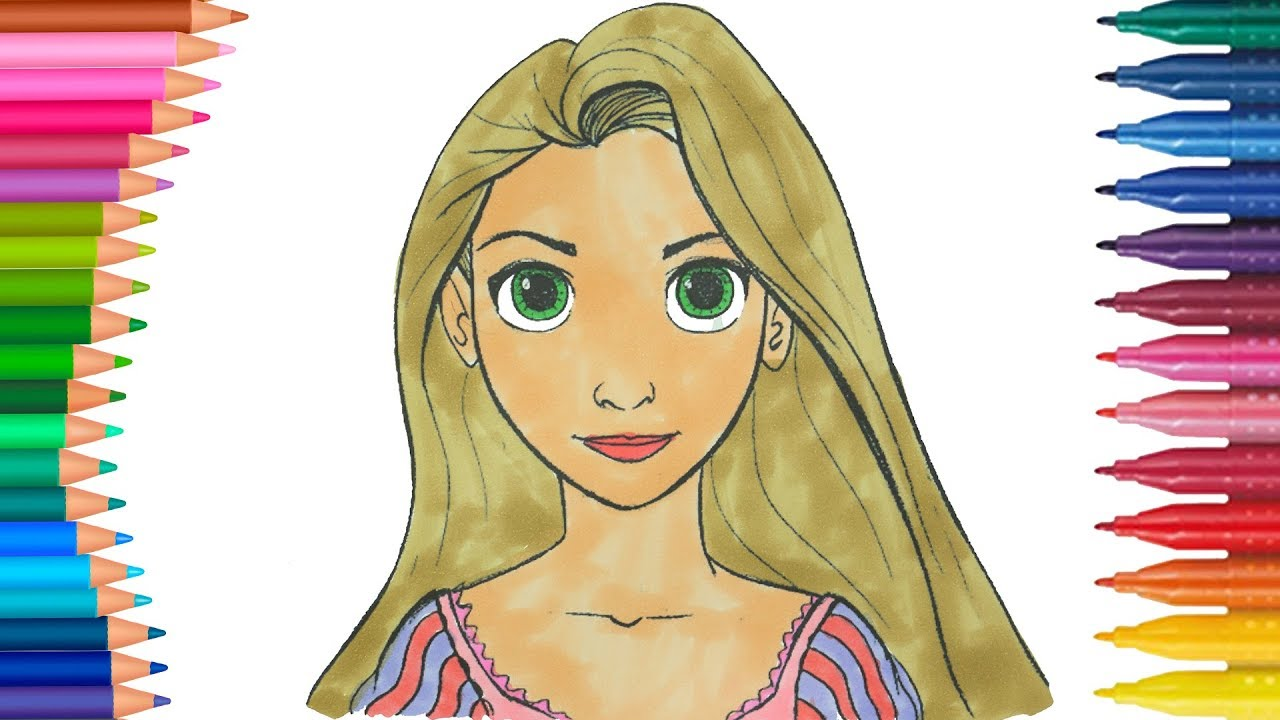 Prenses Rapunzel Boyama Sayfasi Eglenceli Boyama Videolari