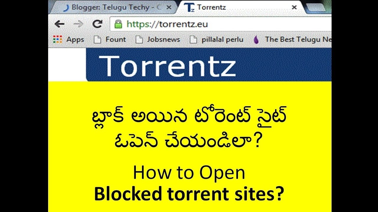 how to open blocked torrent websites in india