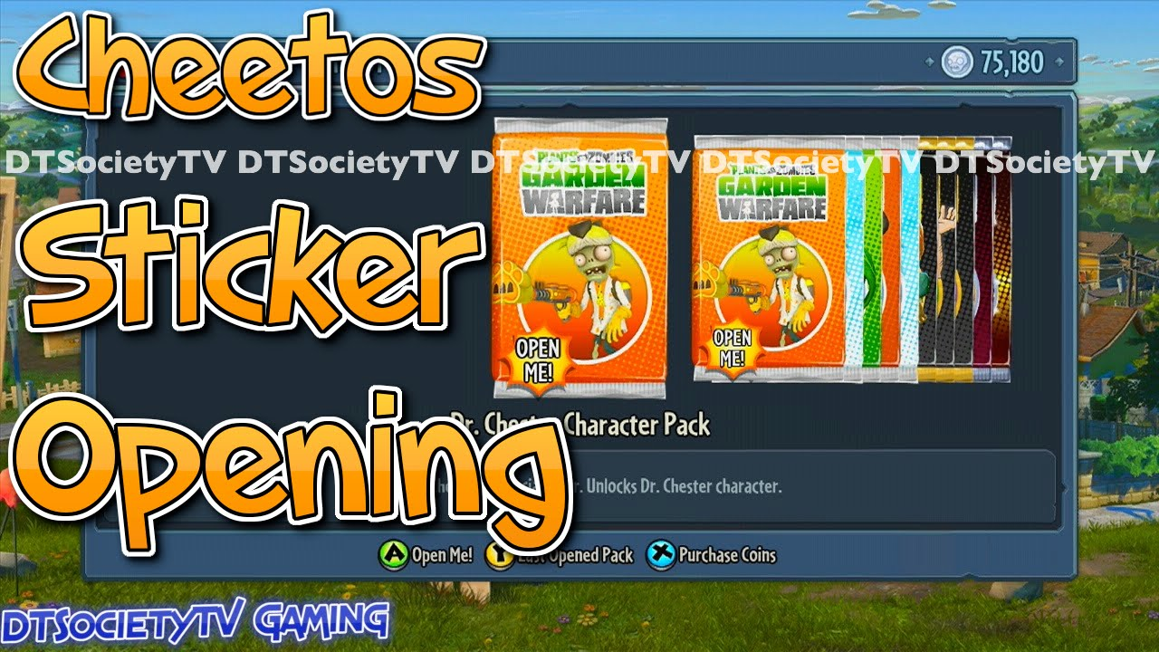 Cheetos Promo Sticker Pack Opening And Overview Plants Vs Zombies Garden Warfare Youtube