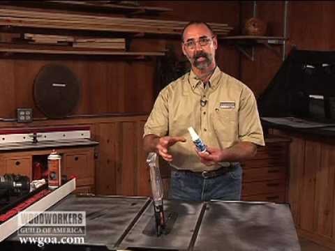 Woodworking Tools: Power Tools – Lubricating Table Saw