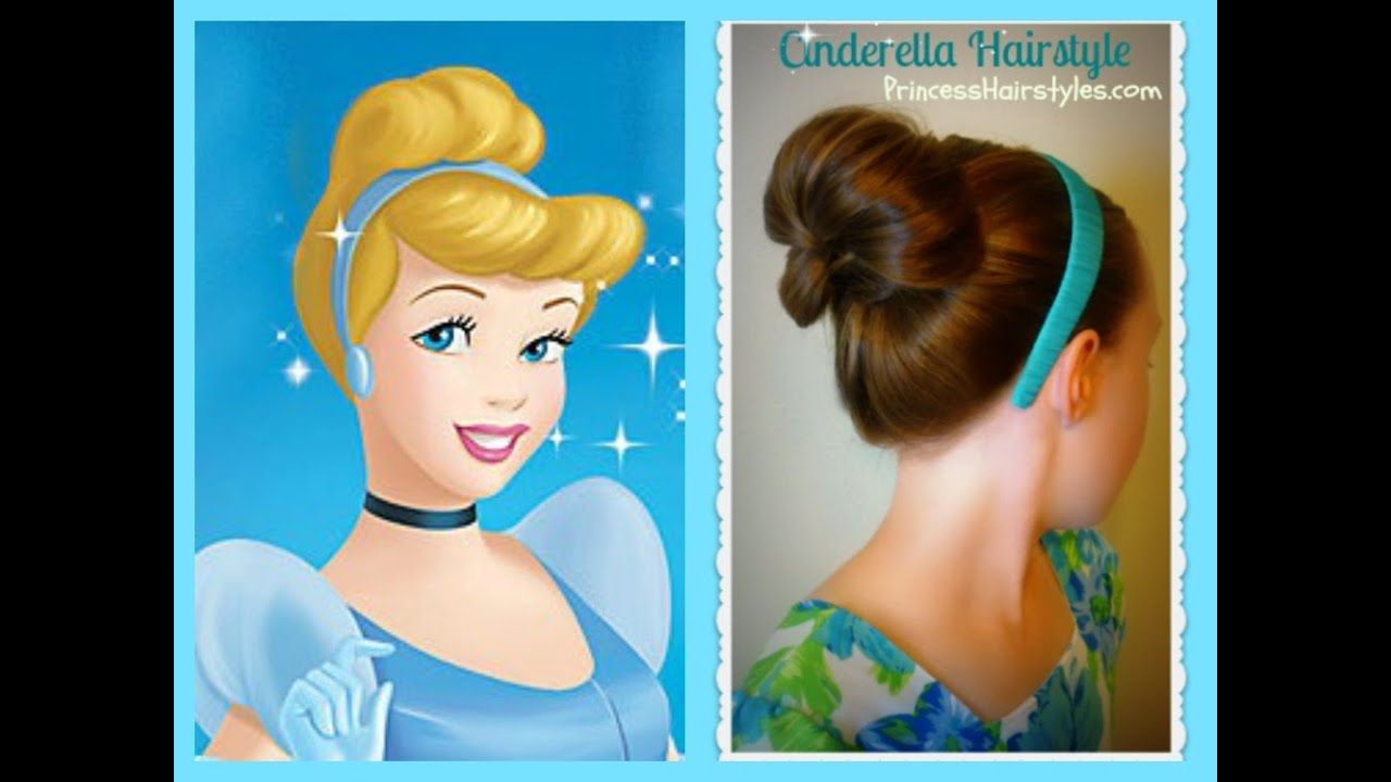 Cinderella Hairstyle Tutorial, Princess Hairstyles - YouTube