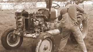 Mycie ciągnika Ursus 4011 - przygotowanie do remontu