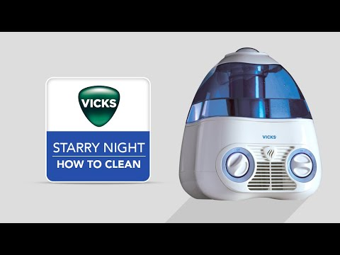 Vicks Starry Night Cool Mist Humidifier V3700 - How to Clean