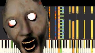 IMPOSSIBLE REMIX Granny Horror Game Theme Song Piano Cover Tutorial