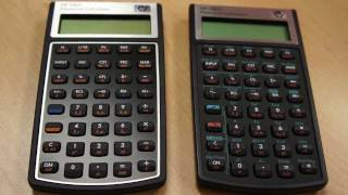 Comparison of HP 10bII calculator with new model 10bII+