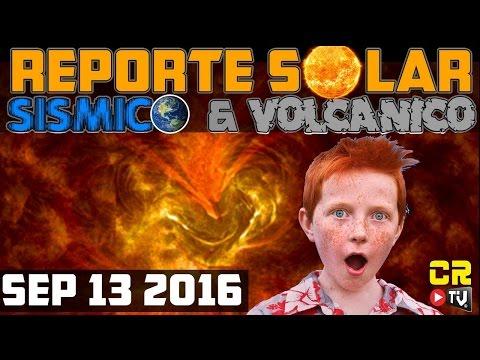 REPORTE SOLAR Y SISMICO | SEP 12 2016 | ALEXANDER BACKMAN
