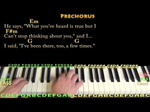 Style (Taylor Swift) Piano Cover Lesson with Chords/Lyrics - YouTube
