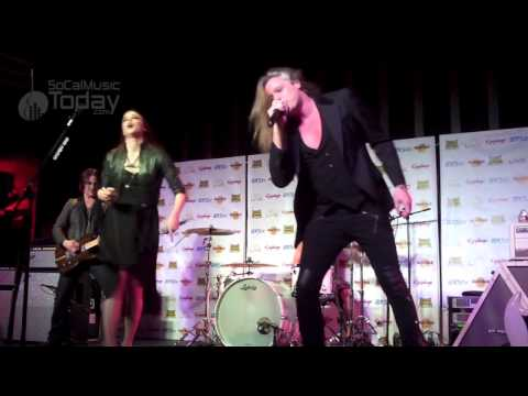 "Halestorm w/ Sebastian Bach - ""Slave to the Grind"" - LIVE @ Golden Gods Press Conference"