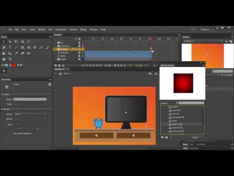 Adobe Flash - Motion graphics usando motion tween
