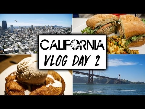 California Travel VLOG Day 2  |  San Francisco's Beautiful Views and Vegan Food