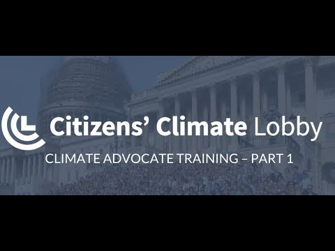 Climate Advocate Training Lesson One