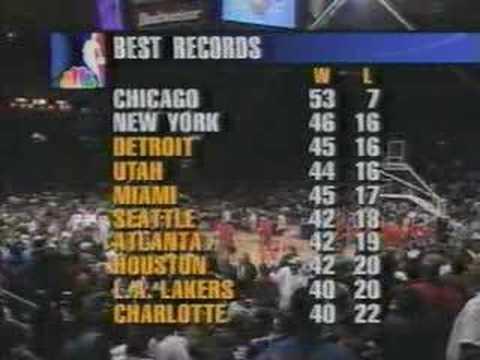 1997 NBA NBC - Bulls vs. Knicks Introduction