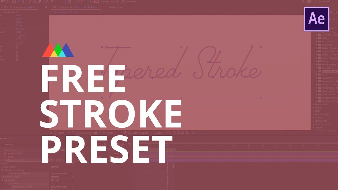 Tutorial: Tapered Stroke Preset for After Effects