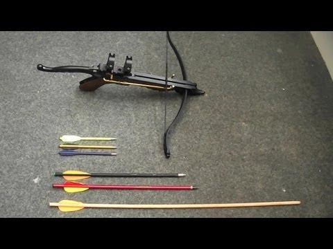 Pistol Crossbow Bolt Test