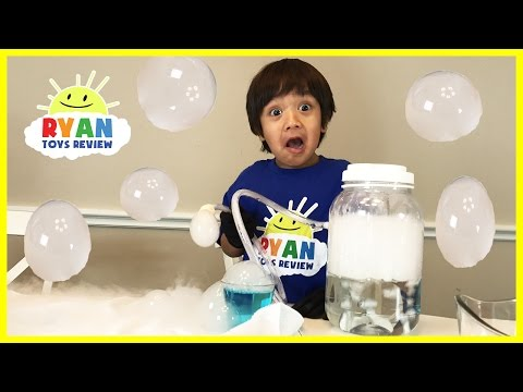 Thumbnail: DRY ICE BOO BUBBLES Science Experiments for kids to do at home with Thomas Trains Spiderman
