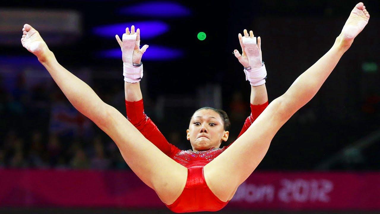 у гимнастки лопнули трусики тело выдержало такого