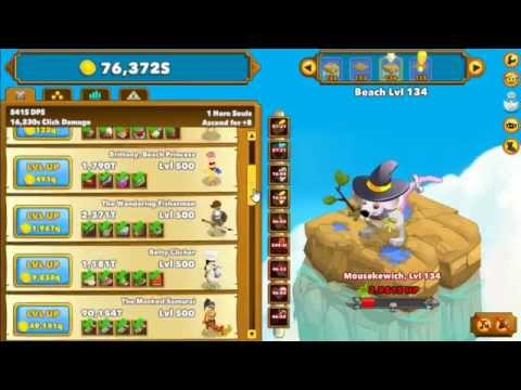 Clicker Heroes Gameplay - First Ascension! (Level 100+)