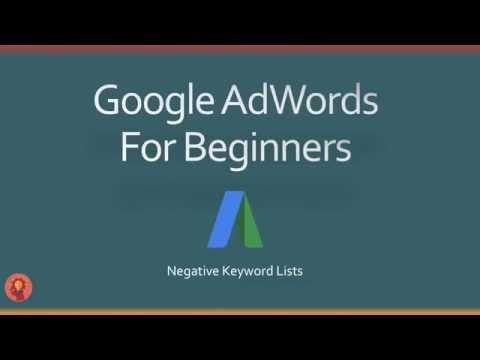 AdWords Negative Keyword List: 400+ Keywords You Need To Add