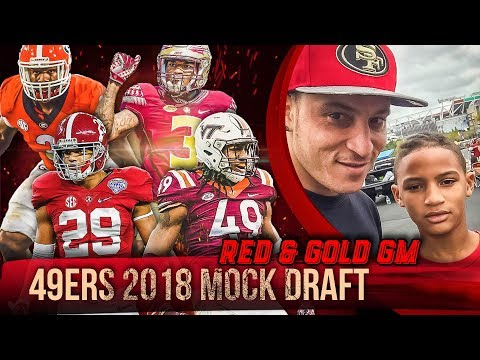 Live! 49ers Mock Draft 2018 - Ronbo Sports Red & Gold GM EP 12