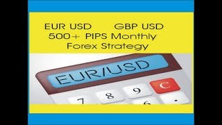 500+ Pips Monthly EUR USD / GBP USD Free Forex Strategy In URDU / Hindi By Tani Forex