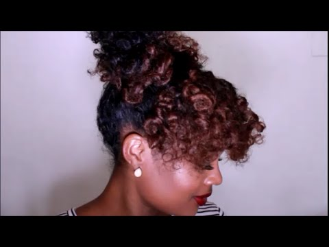 Quick Bantu Knot Out Updo Natural Hair Tutorial Youtube