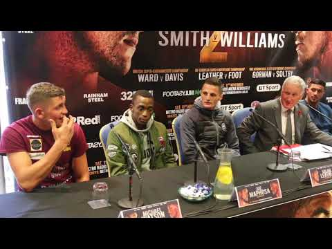 LIAM SMITH v LIAM WILLIAMS - FULL UNDERCARD PRESS CONFERENCE / NO IFS NO BUTS - NOV 11th (NEWCASTLE)