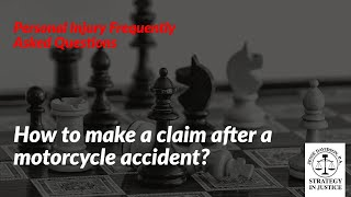 How to make a claim after a motorcycle accident? | Personal Injury Specialist in Boynton Beach