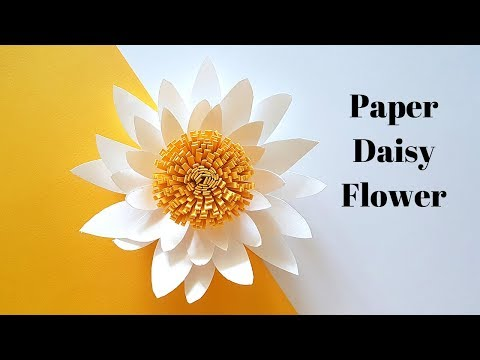 How to make Paper Daisy Flowers | Easy Small Paper Flower Tutorial