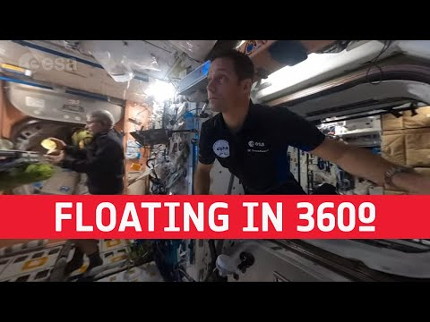 Floating through the Space Station in 360