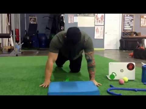 Joe Daniels Overhead Miniband shoulder external rotation drill #2