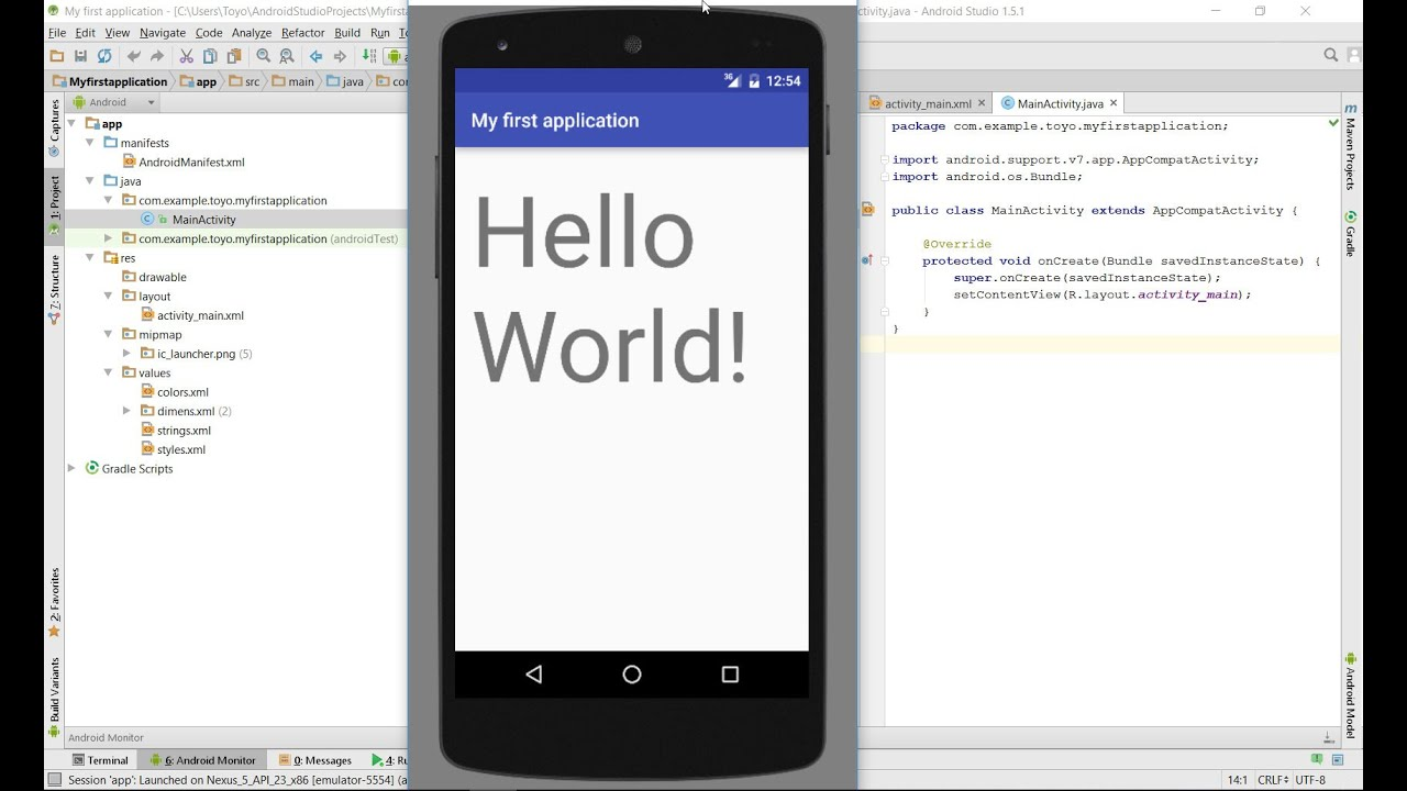 Phone Build Android Phone how to build your first app in android studio youtube studio