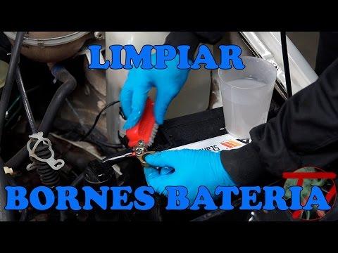 Limpiar bornes bateria
