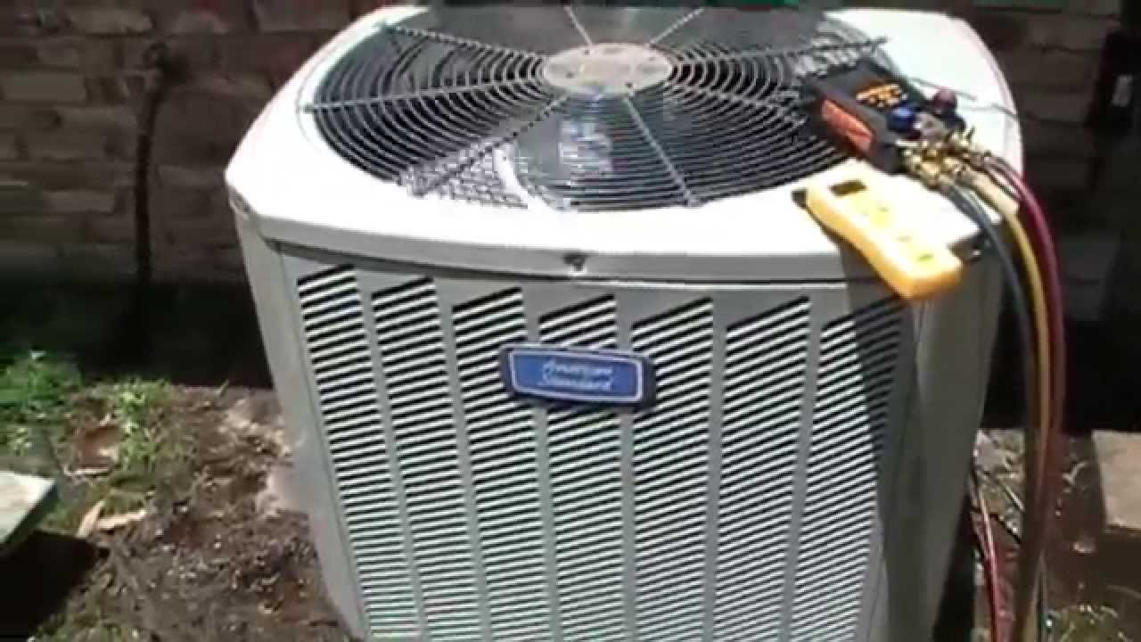 hvac service american standard compressor replacement [ 1280 x 720 Pixel ]