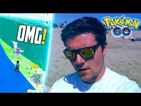 Pokemon Go - SANTA MONICA VLOG (PART 2 - WILD AERODACTYL + INSANE RARE SPAWNS!)