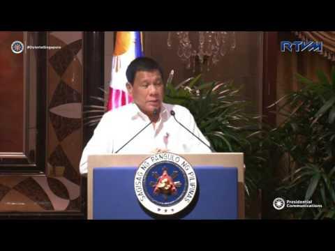 duterte Latest news December 20 2016 | President Duterte Talk to Business Men in Singapore