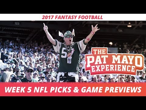 2017 Fantasy Football - Week 5 NFL Picks, Game Previews, Survivor Selections + Cust Corner Mini