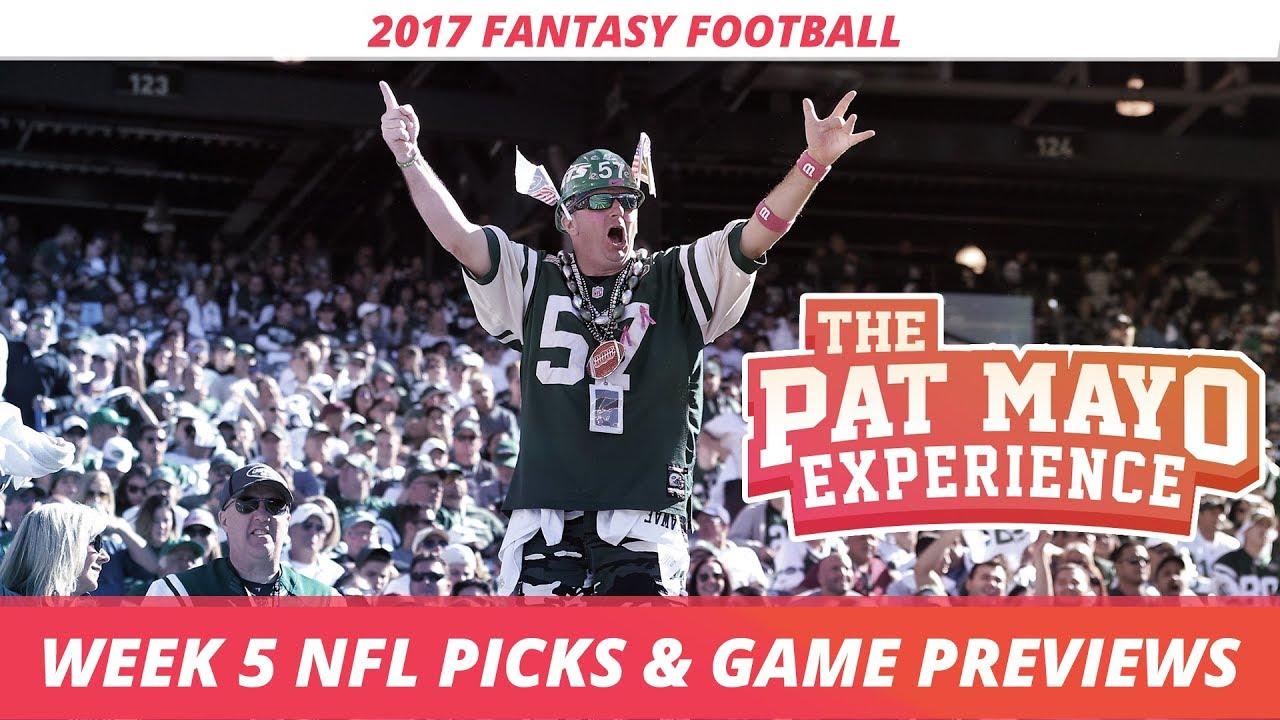 2017 Fantasy Football - Week 5 NFL Picks, Game Previews ...