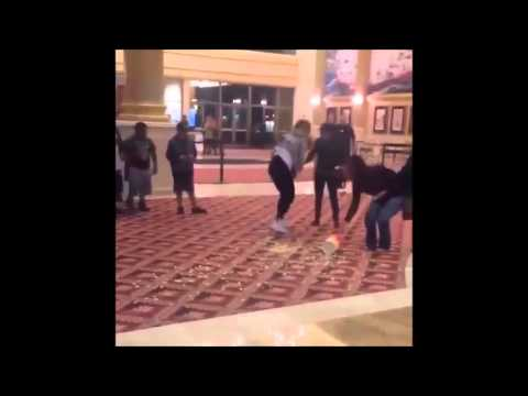 Movie Theater Fail -- Woman Falls In Movie Theater -- Slow Motion Effect (VIDEO)