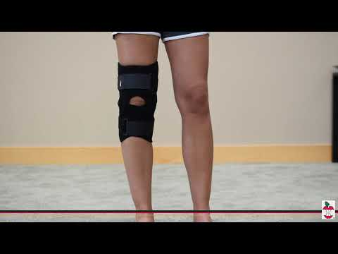 Core Front Closure Wraparound Knee Brace With Hinges