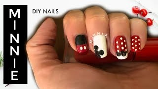 DIY Minnie & Mickey Mouse Nails I How to Cook Craft & Cake It