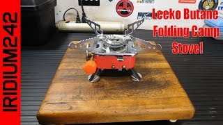 Leeko Butane Folding Camp Stove!