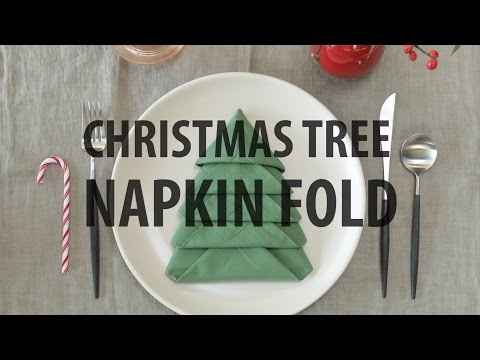 How To Fold Napkin Into Christmas Tree.Christmas Tree Napkin Fold 10 Steps With Pictures