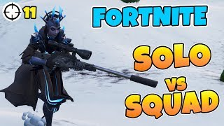 SOLO VS SQUAD *SPÄNNANDE AVSLUTNING* ICY QUEEN SKIN I FORTNITE