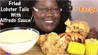 (Repost) Fried Lobster Tail with Alfredo Sauce + Recipe and Mukbang 먹방