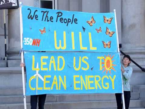350NH/SAPL Earth Day Rally for Renewables 4 22 2018