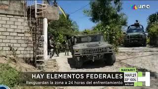 La Guardia Nacional enfrentó a delincuentes armados en Guayabitos