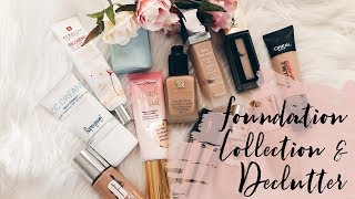 My Foundation Collection and Declutter - mature makeup/over 50