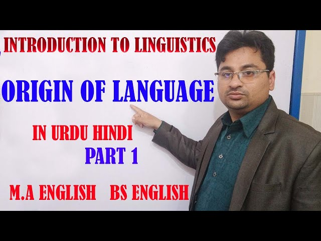 Origin of Language 1 in Urdu Hindi