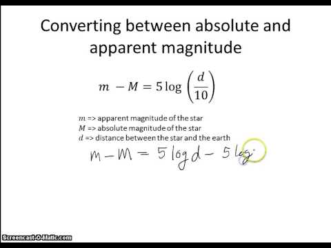 Absolute and Apparent Magnitude