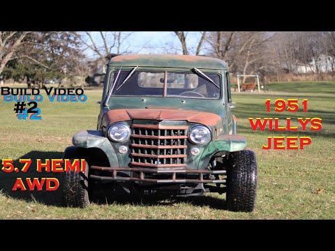 1951 JEEP Pickup AWD HEMI Build Vid #2 Almost Done!